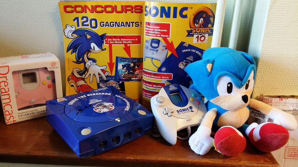 Cv Sonic The Hedgehog 10th Anniversary Dreamcast Limited Edition
