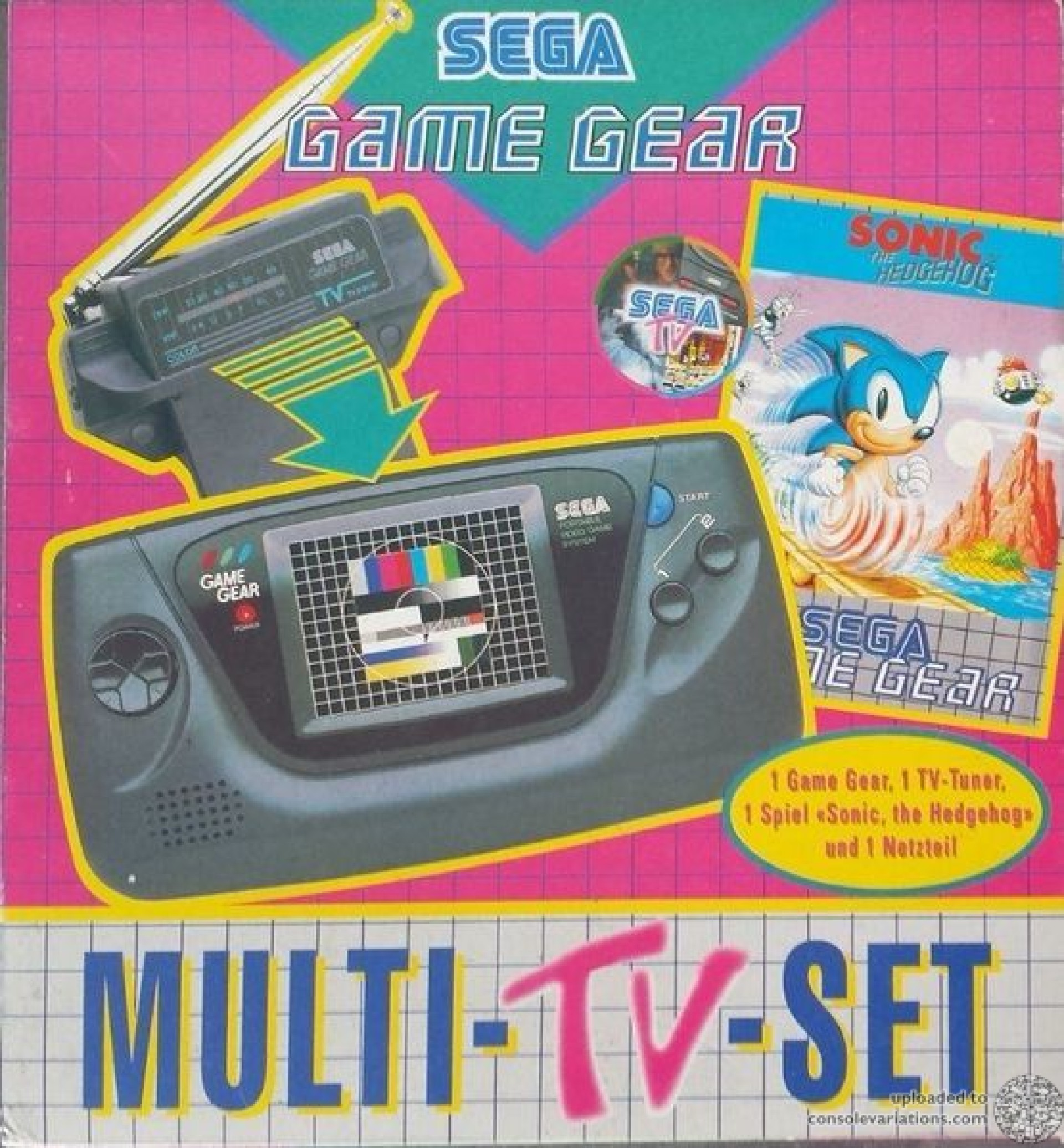 Cv Sega Game Gear Sonic The Hedgehog Tv Tuner Bundle