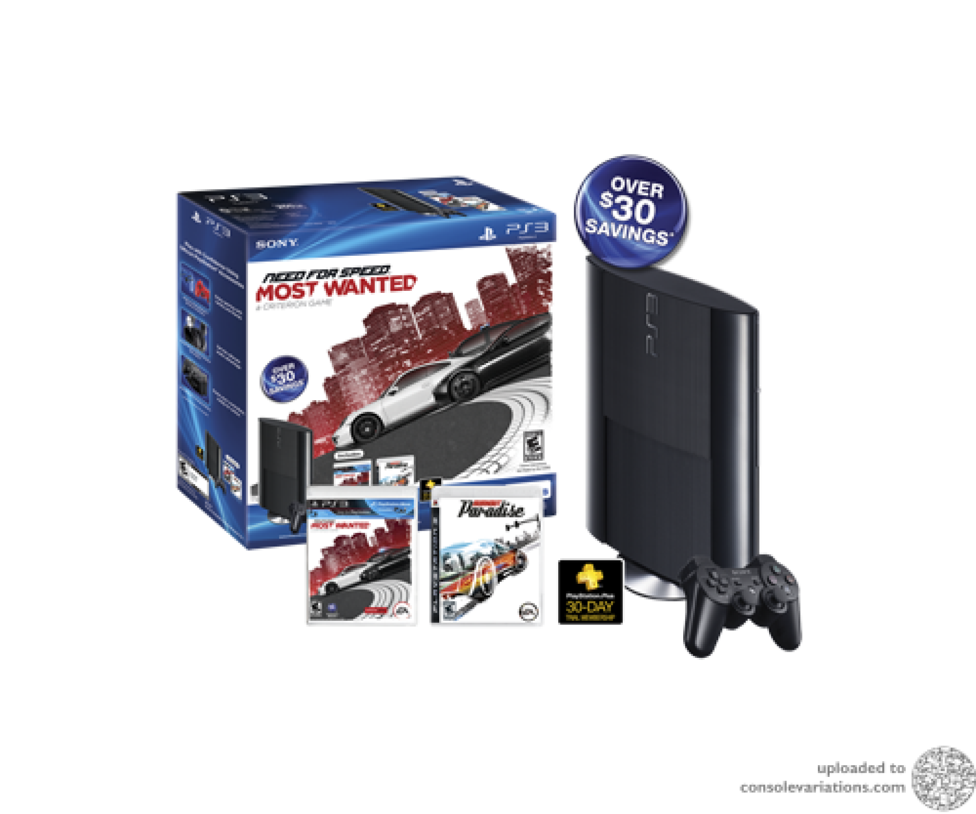 Cv Sony Playstation 3 Super Slim Need For Speed Most Wanted Bundle